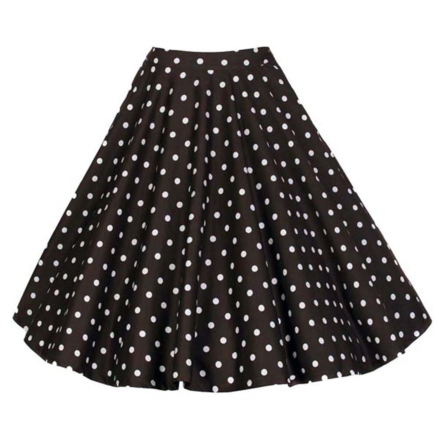 Joansam Women's Knee Length Flare Floral Polka Dot A Line Full Circle ockabilly Swing Casual Skirt Patterns