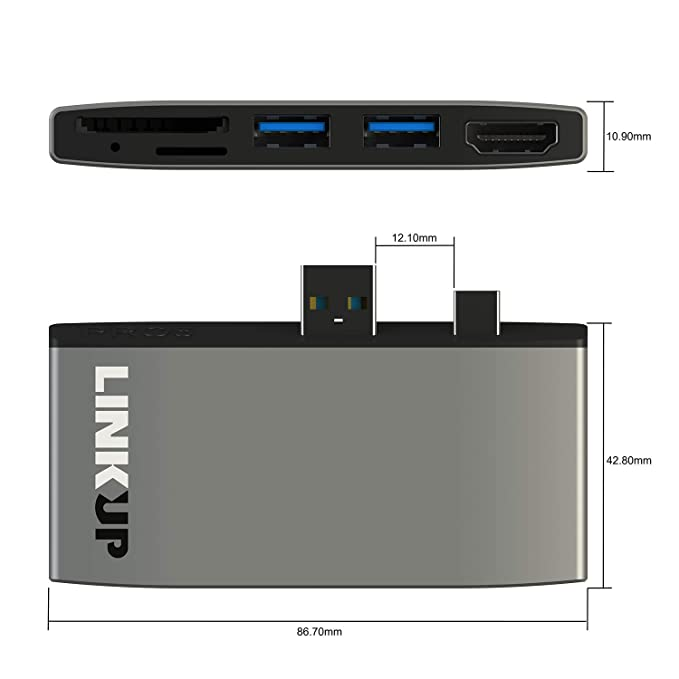 LINKUP Surface Pro 6 (5) Compatible SD Card Micro Memory ...