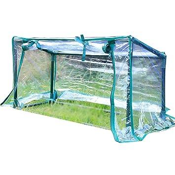 HAIPENG Invernadero De Jardín Portátil Invernáculo Transparente El Plastico PVC Cubrir Policarbonato Marcos Frios (Color : Claro, Tamaño : 74x29x36cm): ...