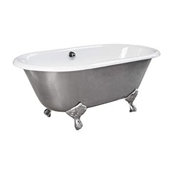 Maykke Rosa 60 Cast Iron Clawfoot Bathtub Elegant Industrial