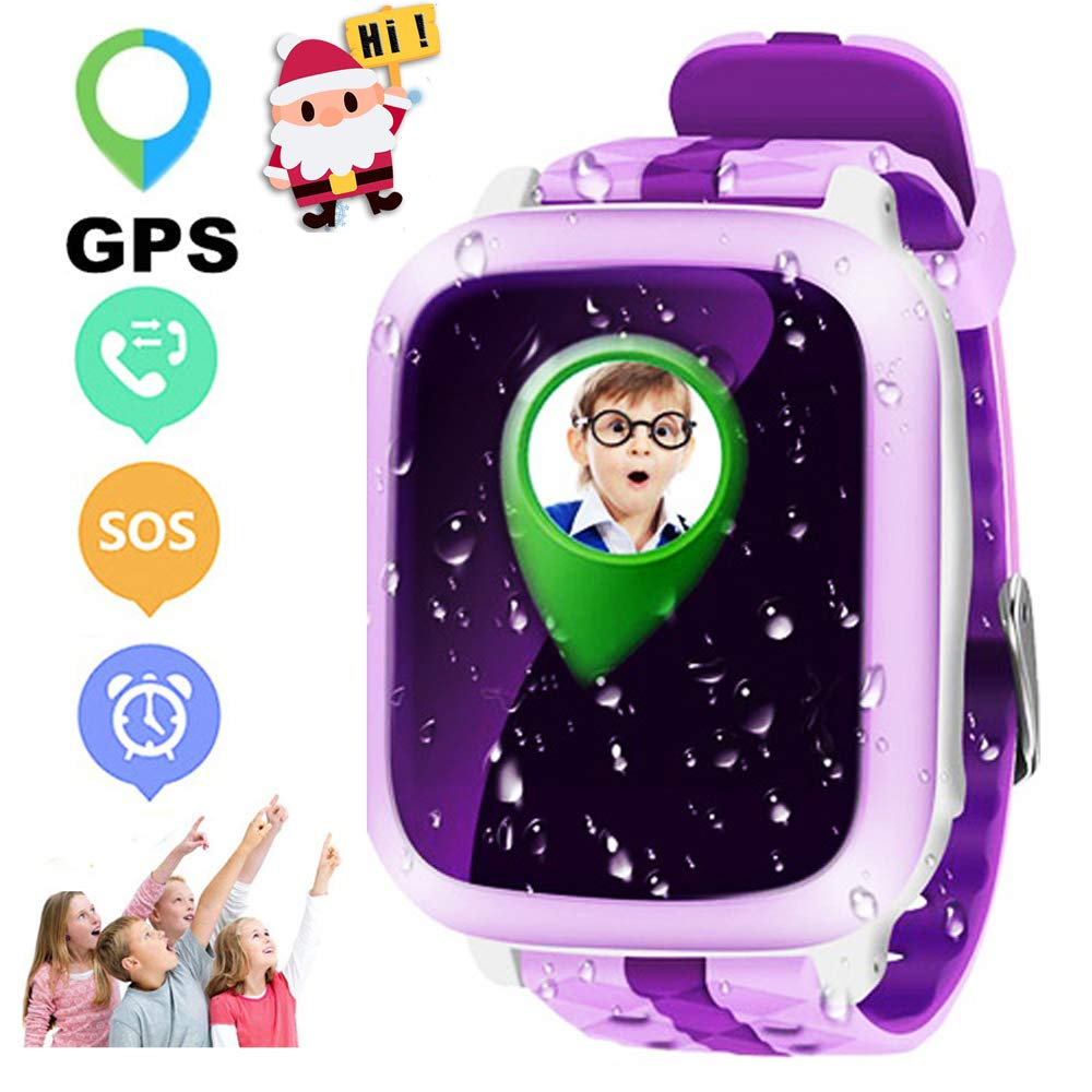 JUNEO GPS Tracker Watch for Kids with SOS Alarm Call Parents Control Real Time GPS Locator with...