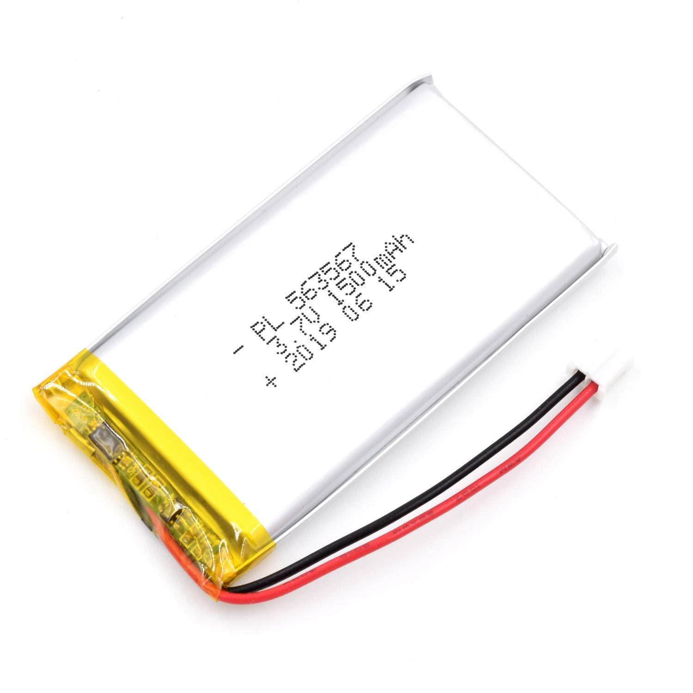 Bateria Lipo 3.7v 1500mah 563567 Recargable Jst Conector