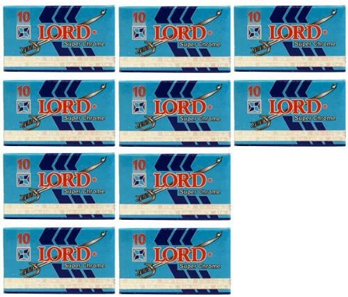Lord Super Chrome Double Edge Blades 100 blades by Lord Co.