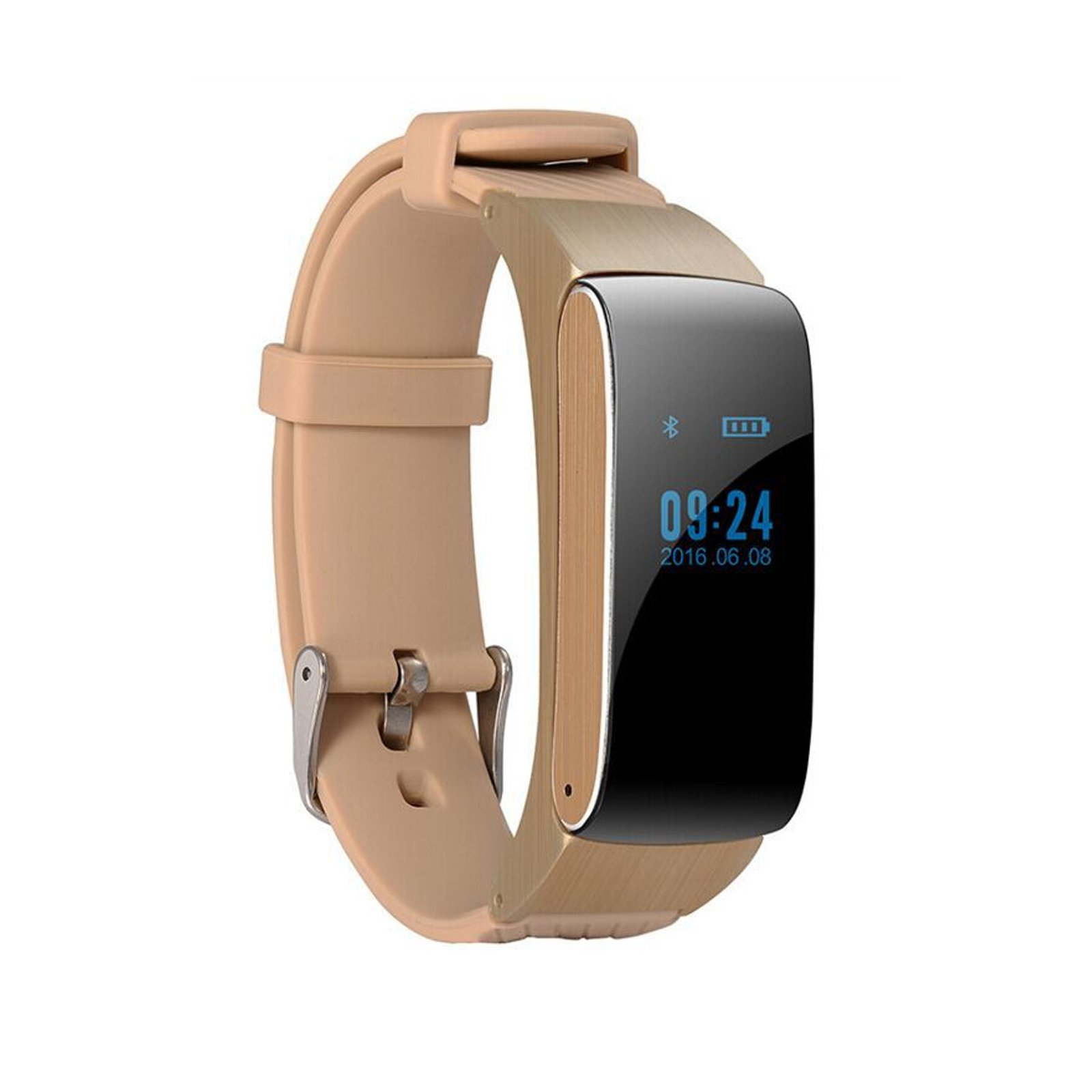 Fitness Tracker Watch for Android Pedometer Sleep Monitor Track Calories Burning 1 Watch 2 Use Easy Detachable Bluetooth Headset Phone Mate Sync Phone Message from Facebook Twitter What's APP(Pink)