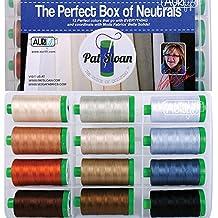 Pat Sloan The Perfect Box of Neutrals Aurifil Thread Kit 12 Large Spools 40 Weight PSNB4012