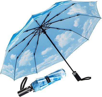 Coupe-Vent Large 16 côtes Parapluie Automatique Ouvert Pour Hommes Femmes Classique Parapluie