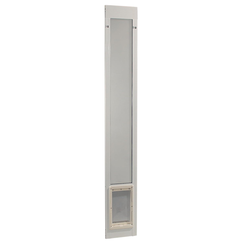 Medium, 7\ Ideal Pet Products 80  Fast Fit Aluminum Pet Patio Door, Medium, 7  x 11.25  Flap Size, White