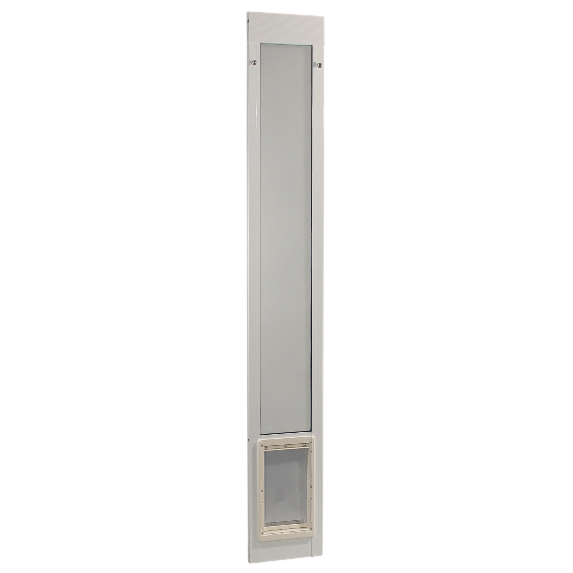 Ideal Pet Products 80'' Fast Fit Aluminum Pet Patio Door, Medium, 7'' x 11.25'' Flap Size, White