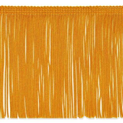 (Expo International 20-Yard Chainette Fringe Trim, 6-Inch, Yellow Gold)