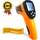 INLIFE Indoor / Outdoor Laser LCD Temperature Gun Non-Contact Infrared Thermometer with Double Laser High Precision Measurement, Temperature Range from -58°F to +1,022°F (-50 °C to 550 °C)