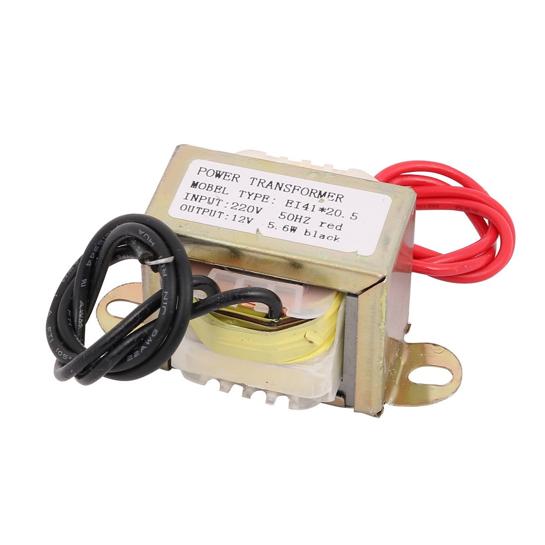 sourcingmap 220V Input 12V 5.6W Output EI-41 * 20.5 Ferrite Core Power Transformer Converter