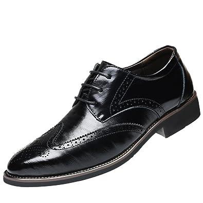 super popular 406de 8b8ff Herren Business Anzugschuhe,Sunday Casual Lederschuhe Retro Oxford  Lackleder Brogue Schuhe Party Hochzeit Leder Schuhe 38-47