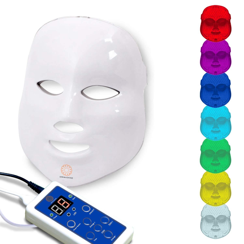 Amazon Com Dermashine Pro Wireless 7 Color Led Mask For Face