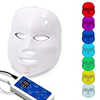 Dermashine Pro Wireless 7 Color LED Mask for Face | Photon Red Light For Healthy...