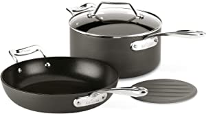 All-Clad Essentials Nonstick Fry Sauce pan, 4-Piece, Grey