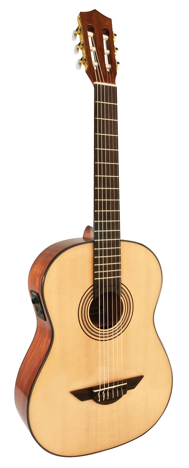 H. Jimenez LG3E El Maestro Nylon String Acoustic-Electric Guitar with Spruce Top and Padded Gig Bag - Natural