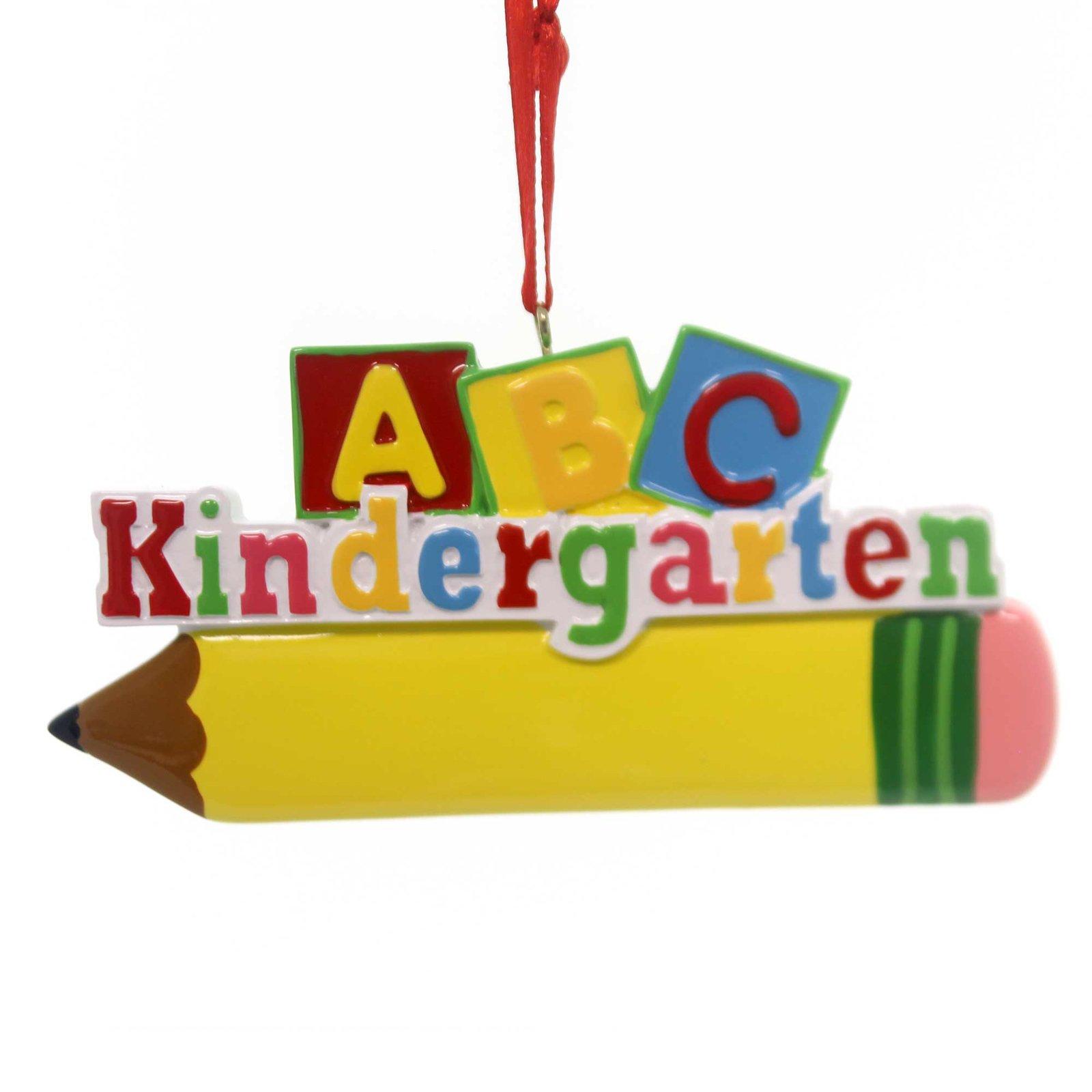 ABC Kindergarten Pencil Ornament