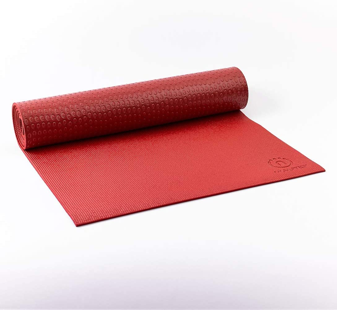 Natural Fitness Warrior Yoga Mat, Crimson/Bordeaux