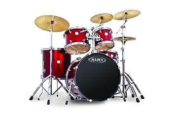 Amazon Com Mapex Voyager Rock 5pc Drum Set W Hardware Vr5295tdr