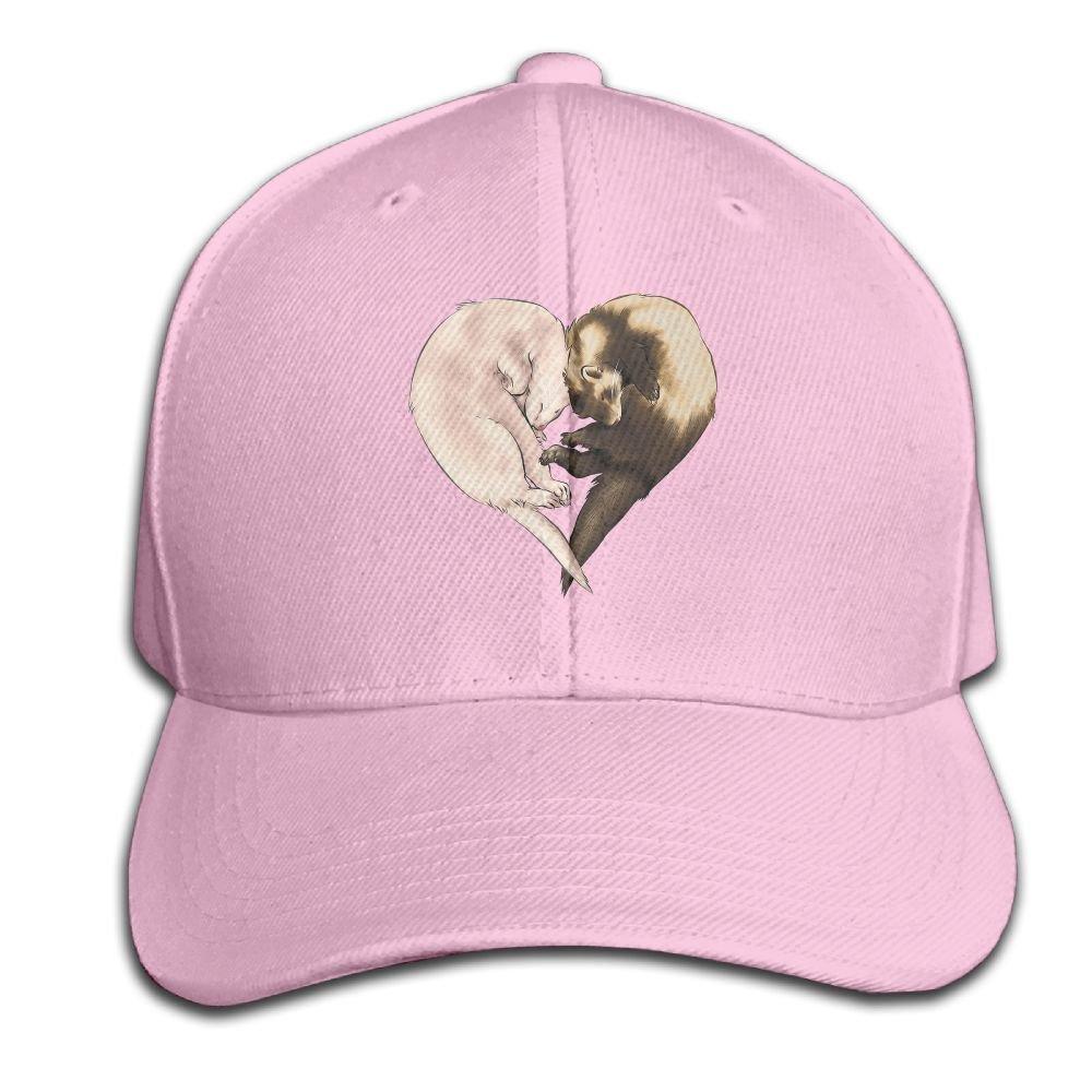 BLACKY Love Ferret Dad Hat Baseball Cap Peaked Trucker Hats for Women Men