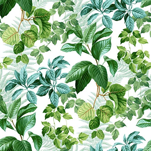- RoomMates Green Rainforest Leaves Peel and Stick Wallpaper