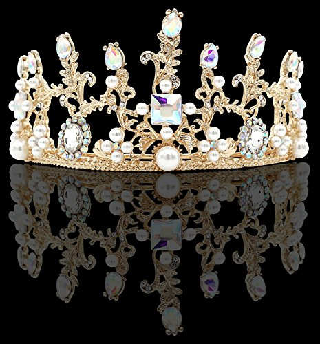 Wedding Tiara Bridal Rhinestone Decor Hairband Hair Clip Hair Loop Tiara