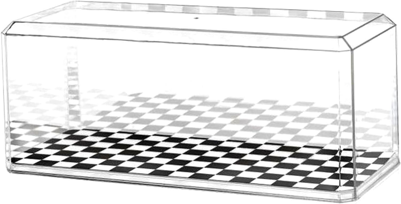 Claro acr/ílico Vitrina de Coche Modelo Fundido a presi/ón, con Almohadilla Adhesiva 3M Pioneer Plastics Escala 1//18