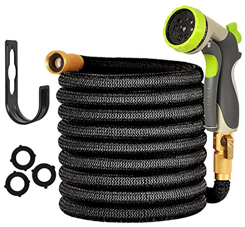 Garden Hose 50 ft - Expandable Water Hose - 8 Functions Durable Zinc Alloy Spray Nozzle For Car, Garden, Lawn, Pet Shower, Plant Watering Hose