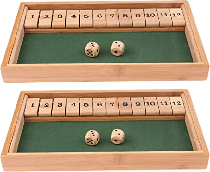 Hellery 2 / Pack Shut The Box Juego De Mesa Juego De Madera 12 Números Dados para Beber Juguetes Educativos para Niños: Amazon.es: Juguetes y juegos