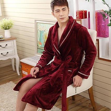 GL&G Primavera e invierno Coral terciopelo par modelos más gruesa casa pijamas ropa hombre y mujer