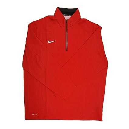 ee520eba9094 Amazon.com   Nike Dri-Fit Men s Red White 1 4 Zip Pullover Jacket ...