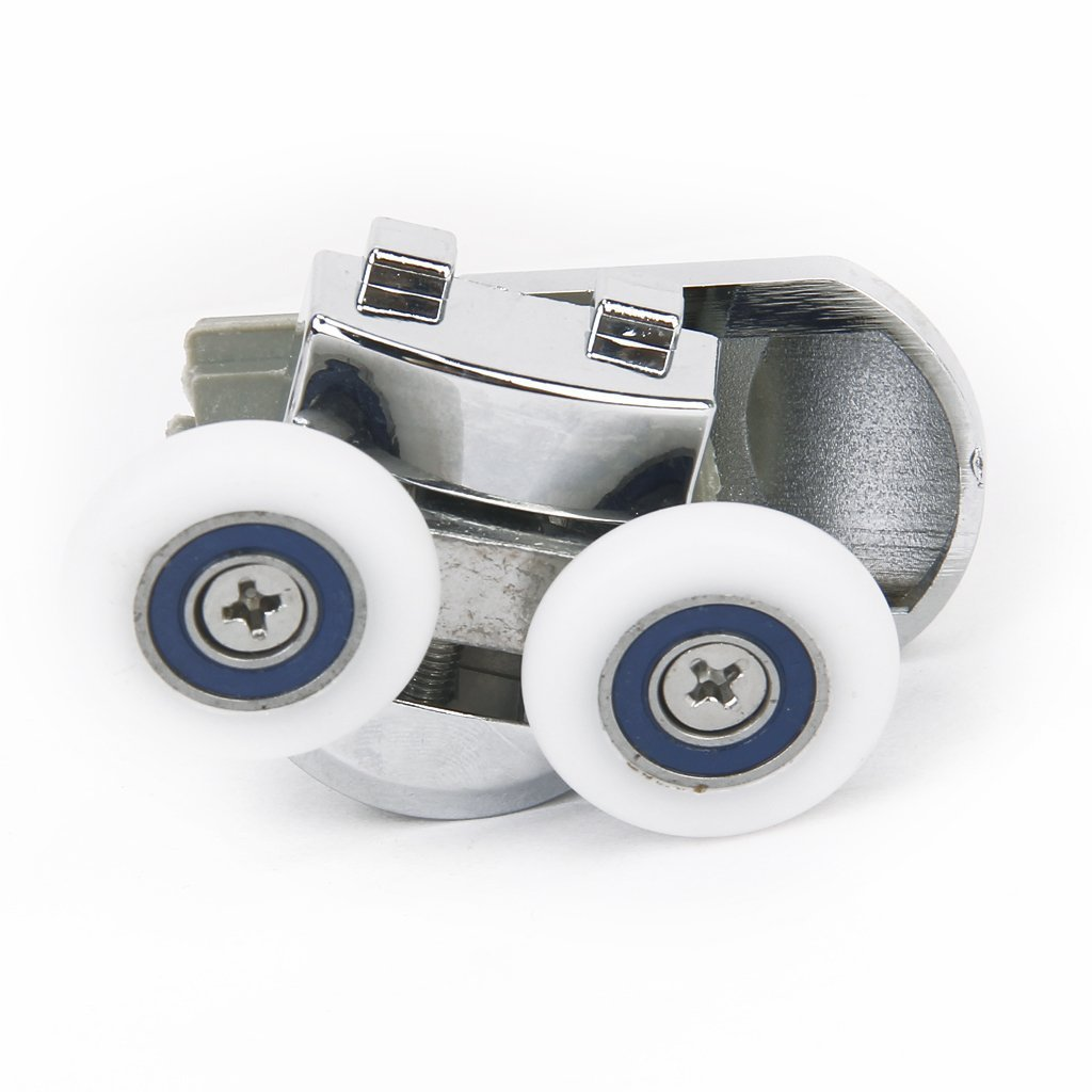 Rad 1 Paar Duschtuer Rollenfuehrungswagen Rad 25mm Durchmesser R TOOGOO