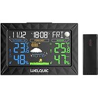 Neutre Station Météo Thermomètre Hygromètre Baromètre sans Fil Prévision Météo Intérieur/Extérieur Avec Ecran LCD Couleur et Sonde