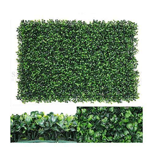 Nisorpa 12 Pack Artificial Plants Wall Boxwood Hedge Mat Privacy Fence Screen Faux Greenery Wall Panels Decorative Suitable for Outdoor Indoor Garden Patio Backyard 23.62