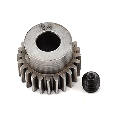 Robinson Racing 2024 Hard 48 Pitch Machined 24T Pinion 5Mm Bore: Toys & Games