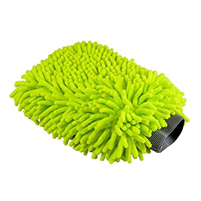 Chemical Guys MIC_493 Chenille Microfiber Premium Scratch-Free Wash Mitt, Lime Green: Automotive