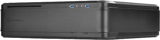 سلسلة Fortress من SilverStone Technology (FTZ01B-V2) إطار واحد من الألومنيوم Mini-DTX، جراب كمبيوتر صلب