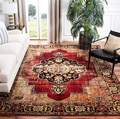 Safavieh Vintage Hamadan Collection VTH219A Oriental Traditional Persian Non-Shedding Stain Resistant Living Room Bedroom Area Rug