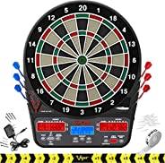 Viper 850 Electronic Dartboard, Ultra Bright Triple Score Display, 50 Games with 470 Scoring Variations, Targe