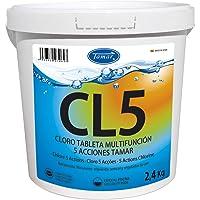 Tamar Cloro 5 Acciones, Tabletas Multifuncion de 200 grs, 2,4 Kilos