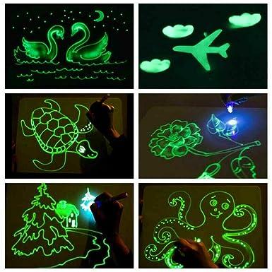 Puyujin Tabla de escritura fluorescente brillante, dibujar ...