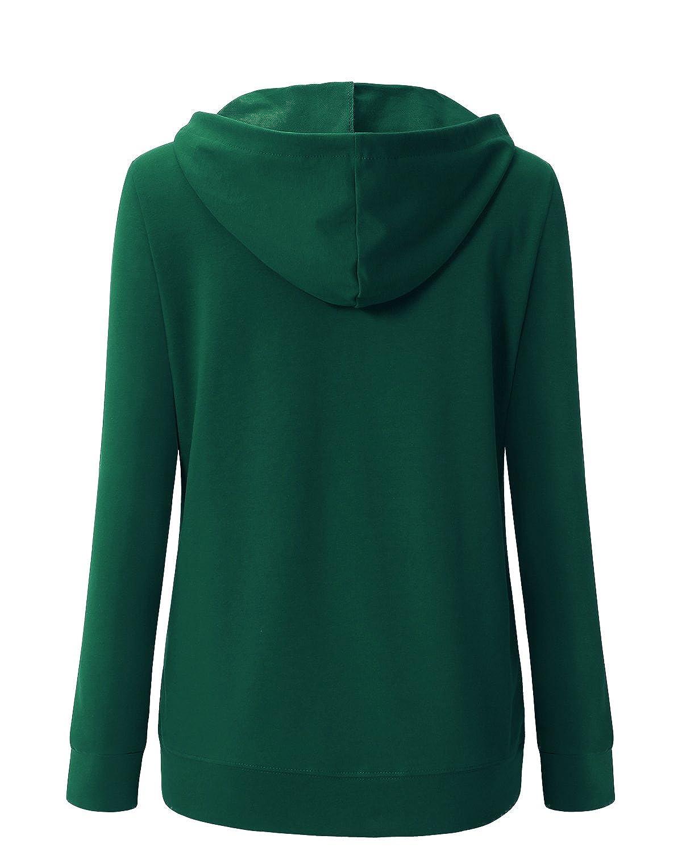 Ca Kra Mujer Otoño Primavera Casual Sudaderas con Capucha de Mujer(Verde Oscuro, XL): Amazon.es: Ropa y accesorios