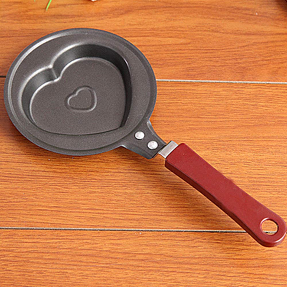 QQDL Smiley-Padella per Padella Antiaderente Induzione Pentola di frittata Padella in Acciaio Inox Idee Girafrittata,Resistente ed Antiaderente Cast Iron Pan//Frying Pan//Skillet Healthy Round