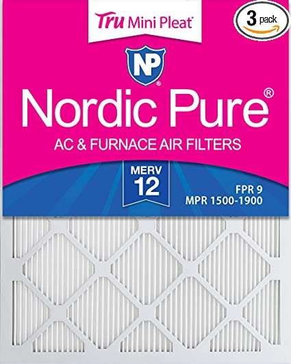 Nordic Pure 14x14x1 MPR 1900 Healthy Living Maximum Allergen Reduction Replacement AC Furnace Air Filters 4 Pack