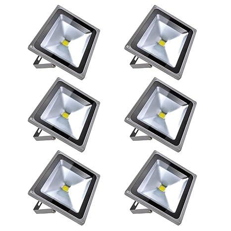 Focos LED Exterior 6X 50W PrimLight Foco Proyector LED Blanco Frio ...