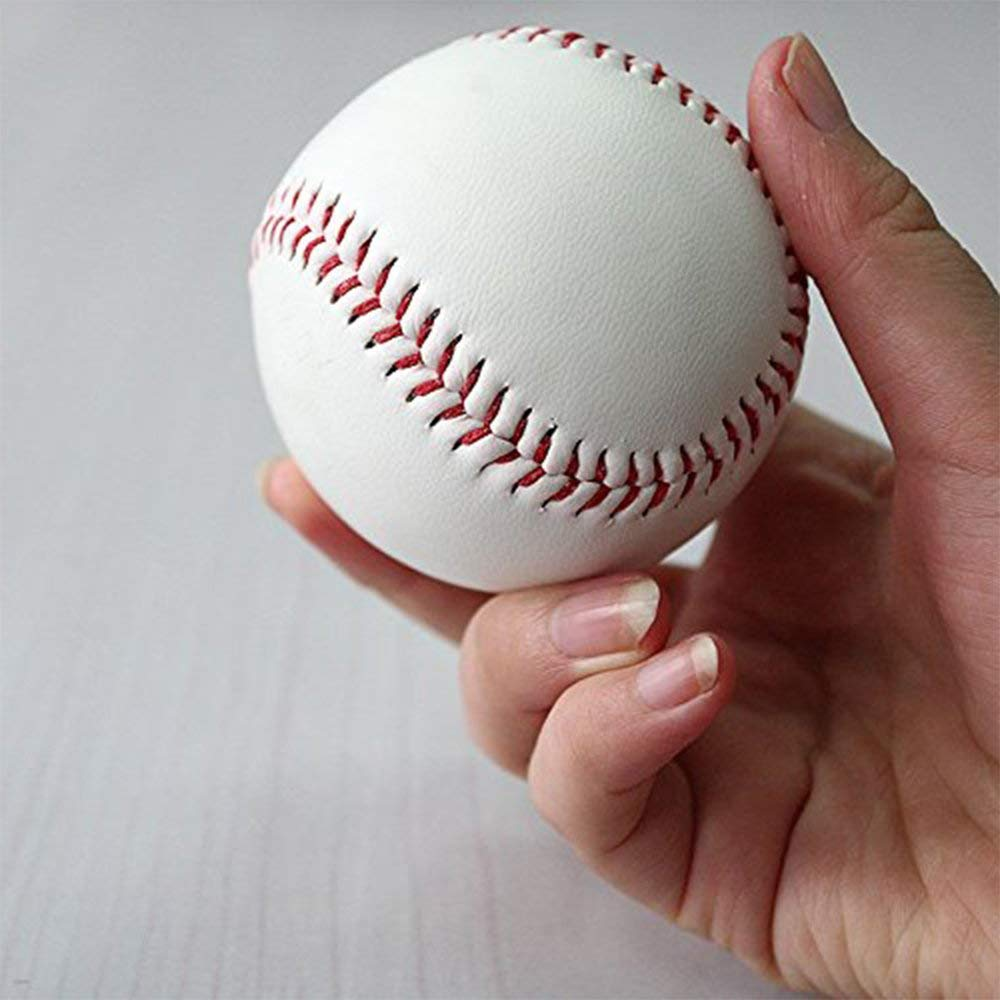 Heart Service 1 Pcs Standard Size PU Leather Baseball Suture T-Ball Suitable for Play Practice Training Competition