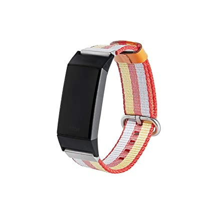 Weinisite Watch Band for Fitbit Charge 3,Woven Nylon Durable Replacement  Wristband for Fitbit Charge 3 Smart Watch
