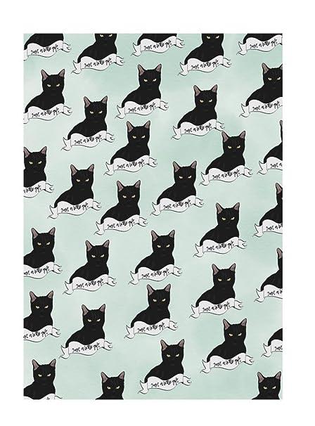 Amelia Florence - Papel de regalo, diseño de gato negro: Amazon.es ...