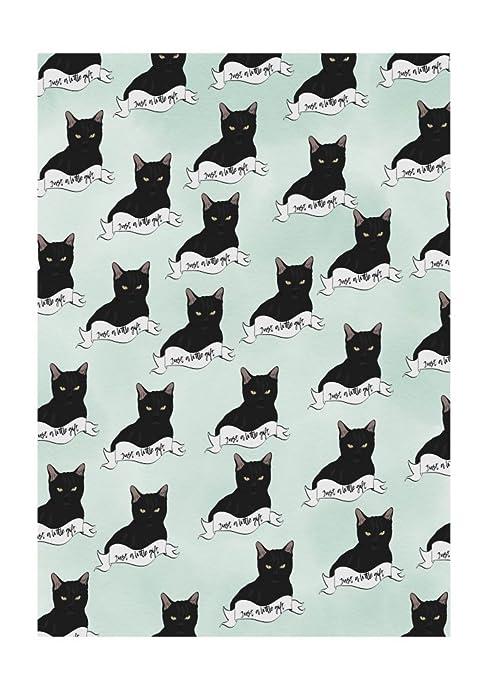 Amelia Florence - Papel de regalo, diseño de gato negro