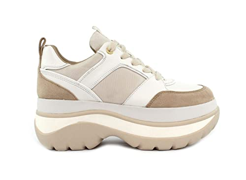 6d218534cbd2 Michael MICHAEL KORS Felicia Leather Platform Trainer Sneaker Size 8 US   Buy Online at Low Prices in India - Amazon.in
